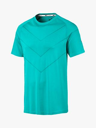 PUMA Reactive evoKNIT Training Top, Turquoise Heather