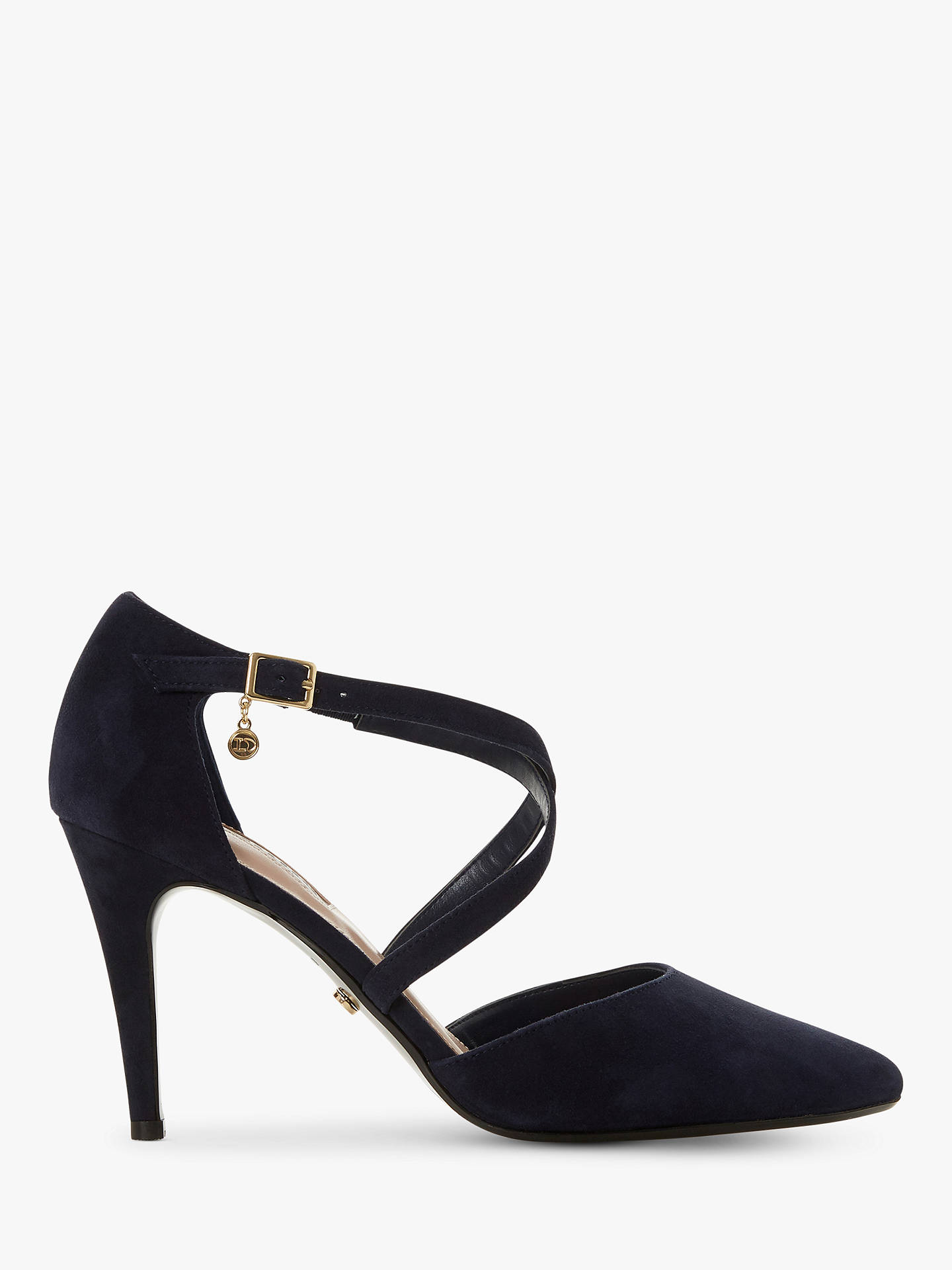 aa5fd3ffb Dune Clancy Wide Fit Cross Strap Court Shoes at John Lewis   Partners