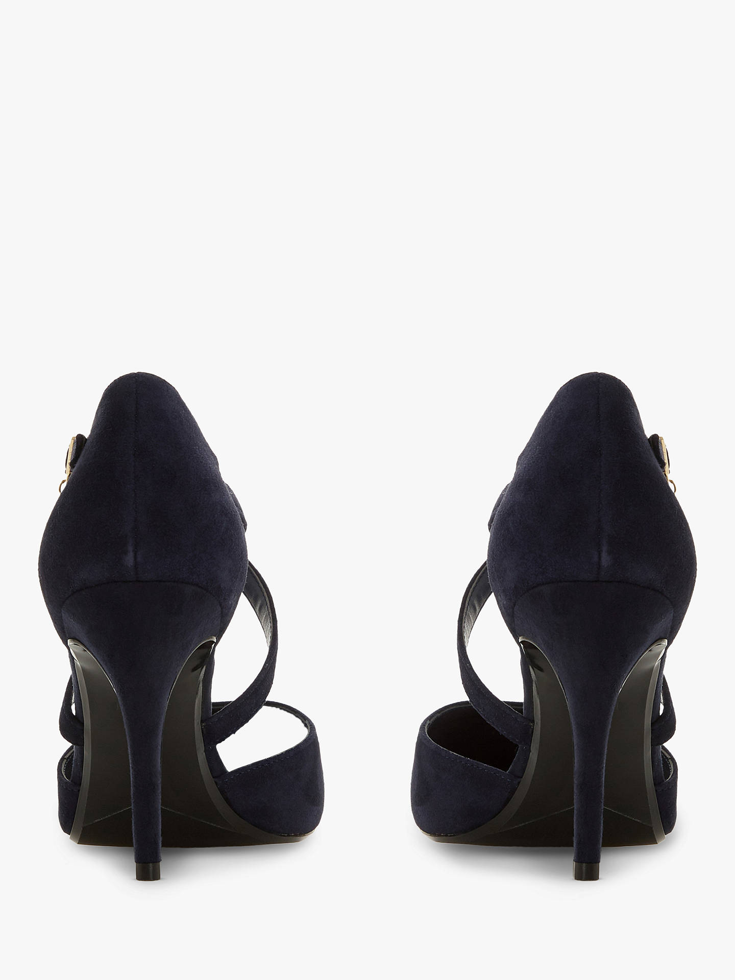 b9ac3b8c0978 Dune Clancy Wide Fit Cross Strap Court Shoes at John Lewis   Partners