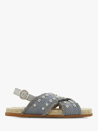 Dune Lateen Studded Cross Strap Sandals