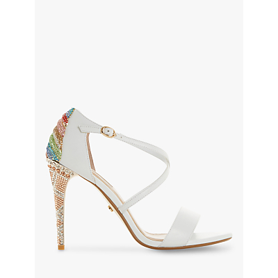f26b1e91a6a Dune Madalenna Stiletto Heeled Sandals>Silver Leather | high heels