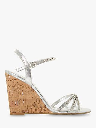 742f19bb762 Dune Minke Wedge Heel Diamante Sandals