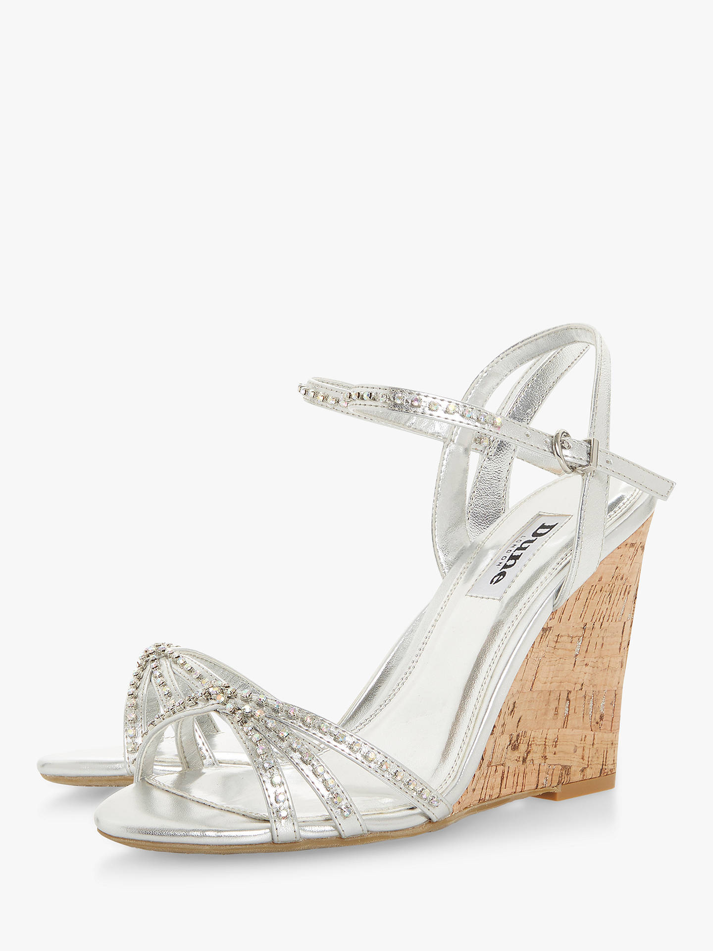 c9fbb01ecea5 Dune Minke Wedge Heel Diamante Sandals at John Lewis   Partners