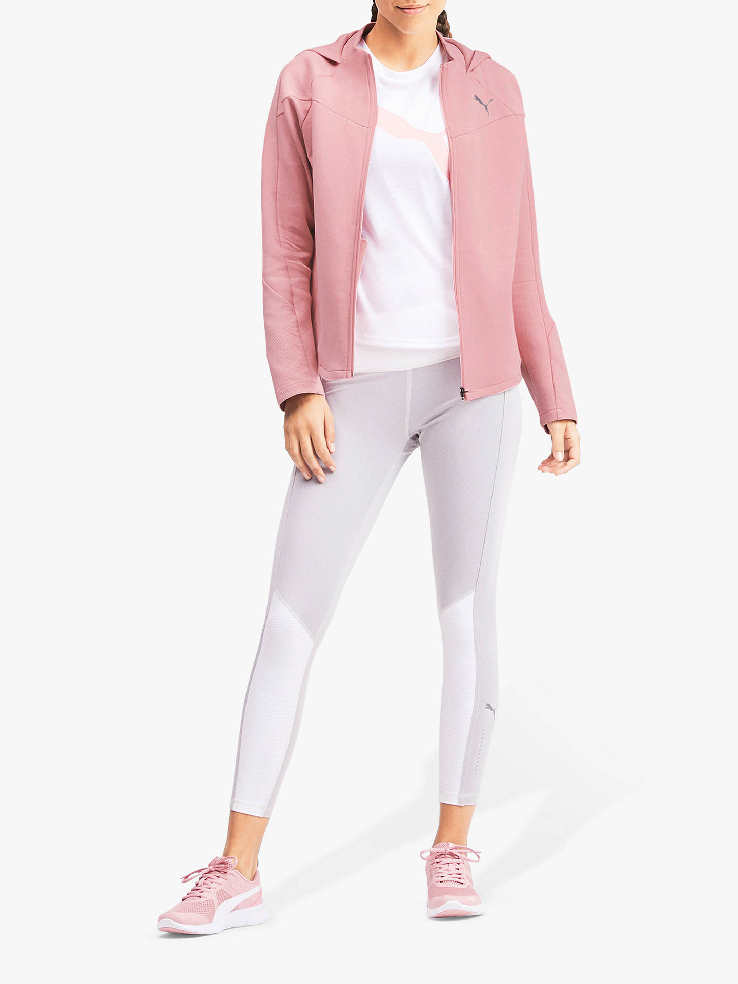 Buy PUMA Evostripe Full Zip Training Hoodie, Bridal Rose, M Online at johnlewis.com