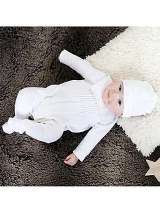 5d25d2834b413 Emile et Rose Robyn Sleepsuit, Hat and Teddy Bear Set, White