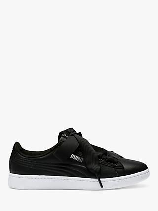 PUMA Vikky Ribbon Core Women's Trainers, Black/PUMA Silver