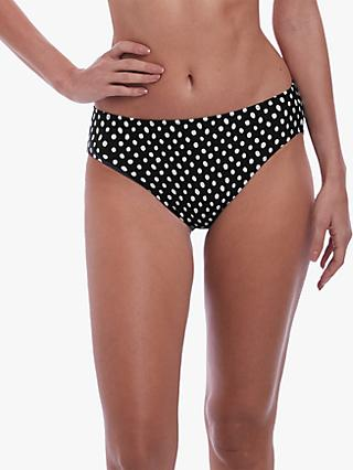Fantasie Santa Monica Spot Print Bikini Briefs, Black/White