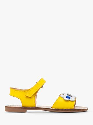 Boden Children's Leather Holiday Sandals, Sunshine Yellow