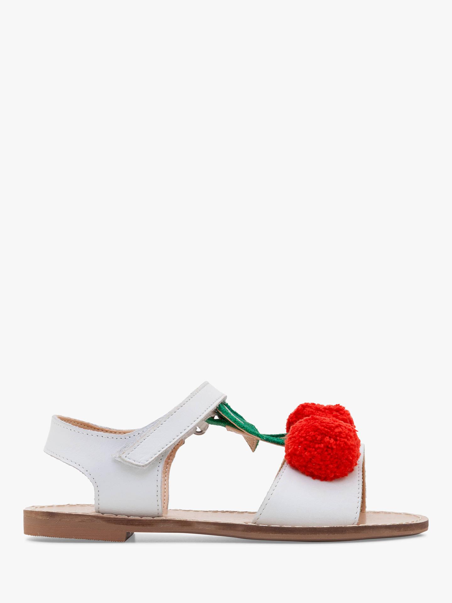 eb046b542ff91 Mini Boden Children's Leather Holiday Sandals, White