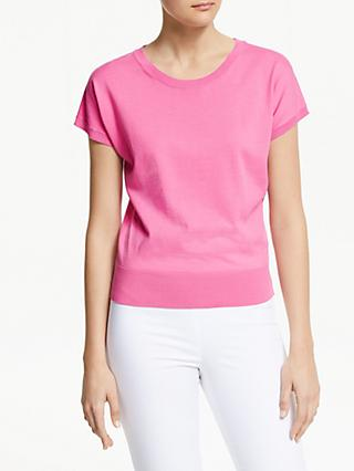 Winser London Cotton Short Sleeve Jumper, Candy Pink