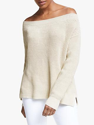 Winser London Audrey Cotton Fisherman's Jumper, Ecru