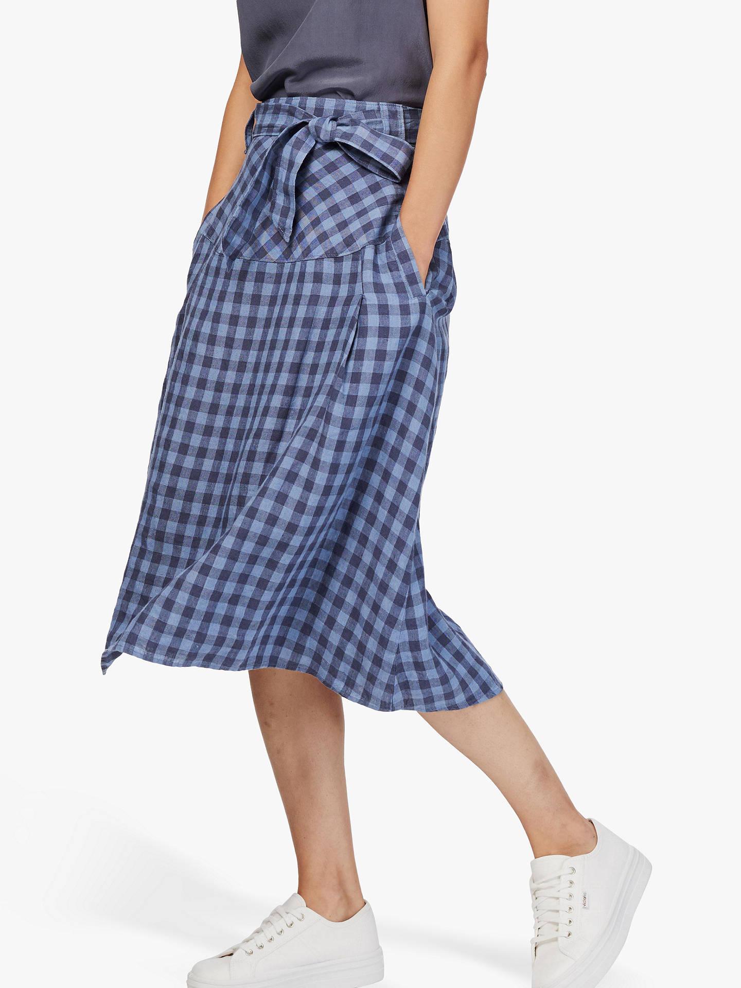 066667b3fa4 Buy Brora Gingham Check Linen Skirt