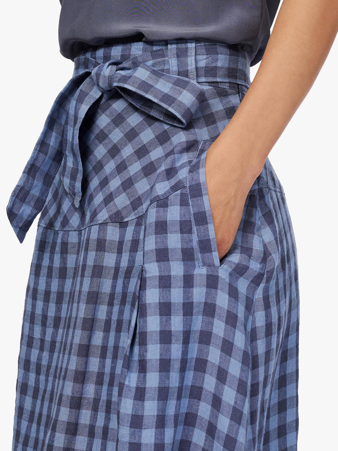 6ec1c9cc2d1 ... Buy Brora Gingham Check Linen Skirt