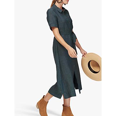 08d69e9be83 Brora Cross Weave Linen Shirt Dress