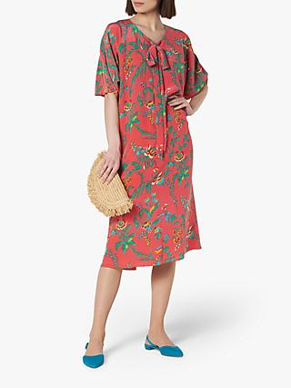 L.K.Bennett Estella Midi Dress, Pink/Multi