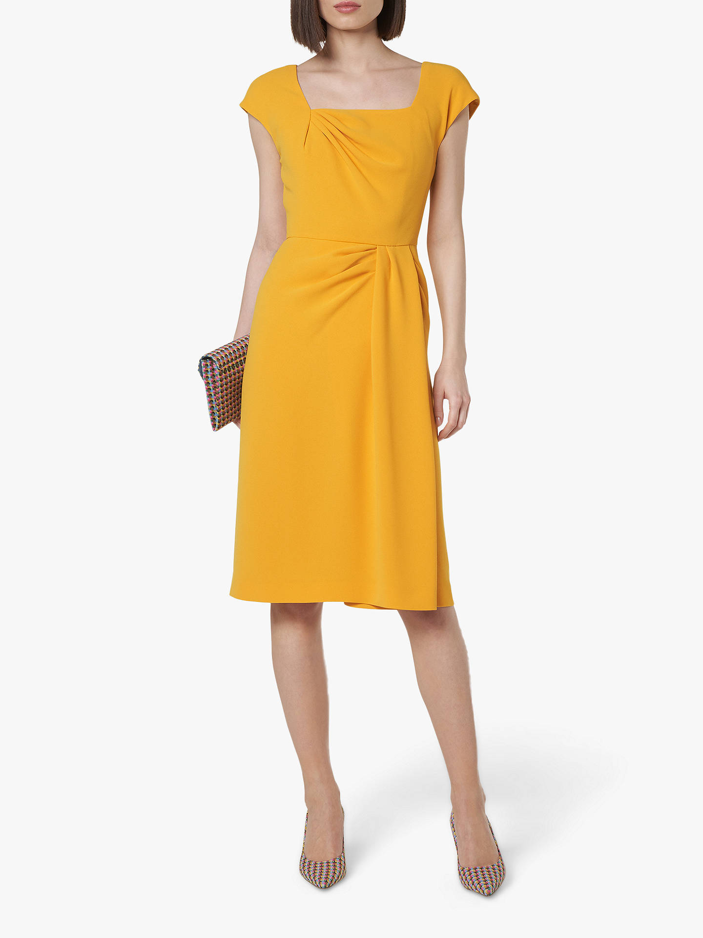 coupon codes shades of usa cheap sale L.K.Bennett Denise Fitted Dress, Yellow at John Lewis & Partners