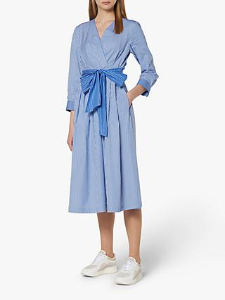 L.K.Bennett Alela Stripe Wrap Dress, Multi/Blue