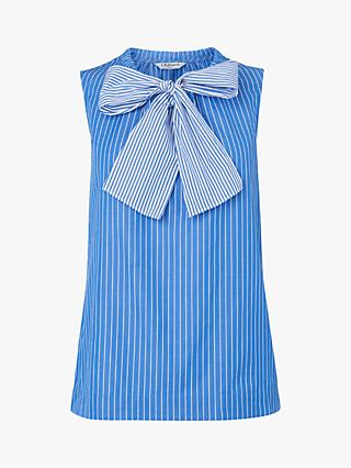 L.K.Bennett Alela Stripe Cotton Top, Multi/Blue