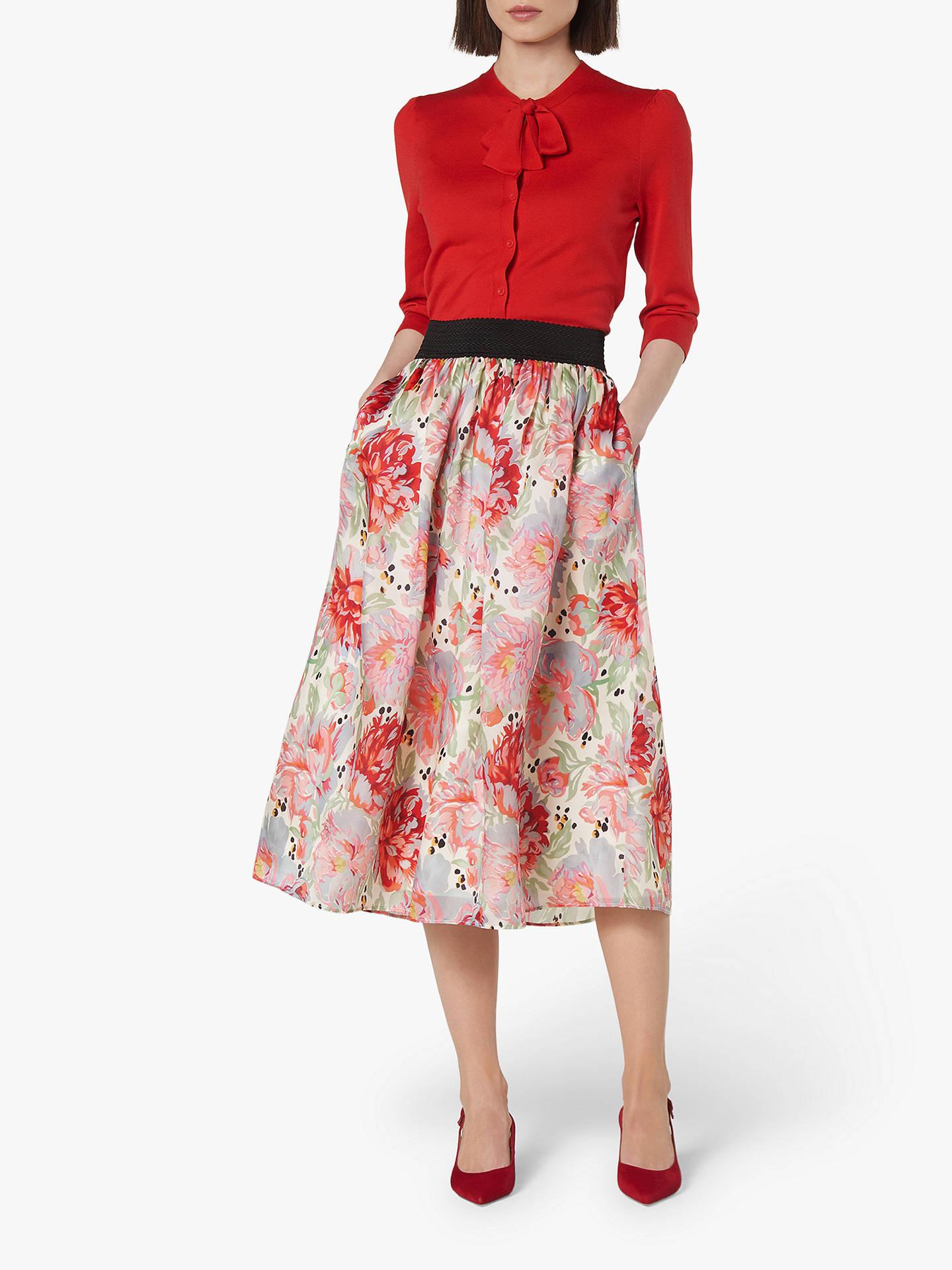 6b968a8f57 Buy L.K.Bennett Bouvier Organza Silk Skirt, Pink, 12 Online at  johnlewis.com ...