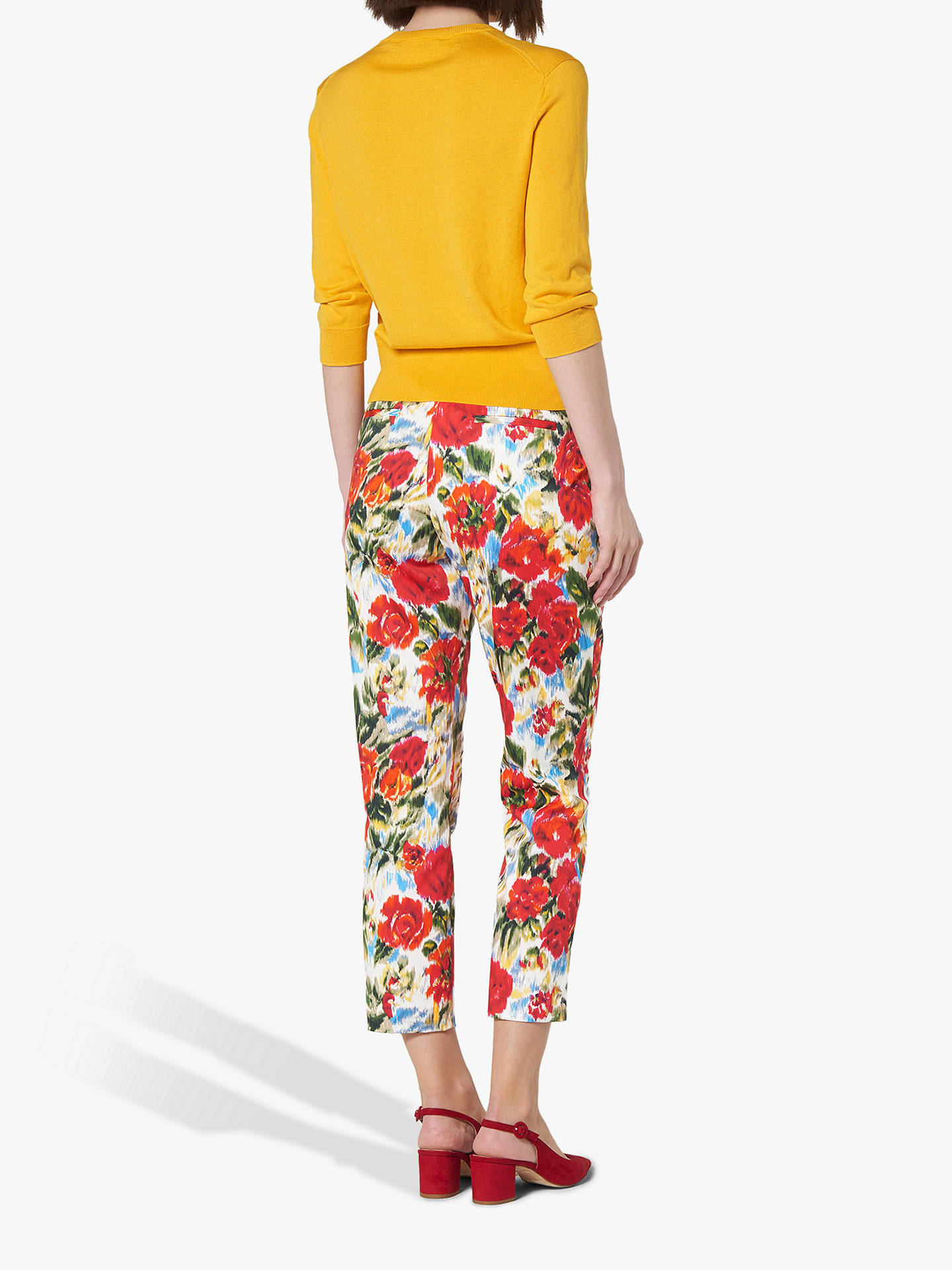 Buy L.K.Bennett Issie Floral Trousers, Multi, 6 Online at johnlewis.com