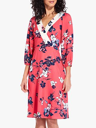 3442e60b481 Adrianna Papell Etched Blooms Floral Print Dress