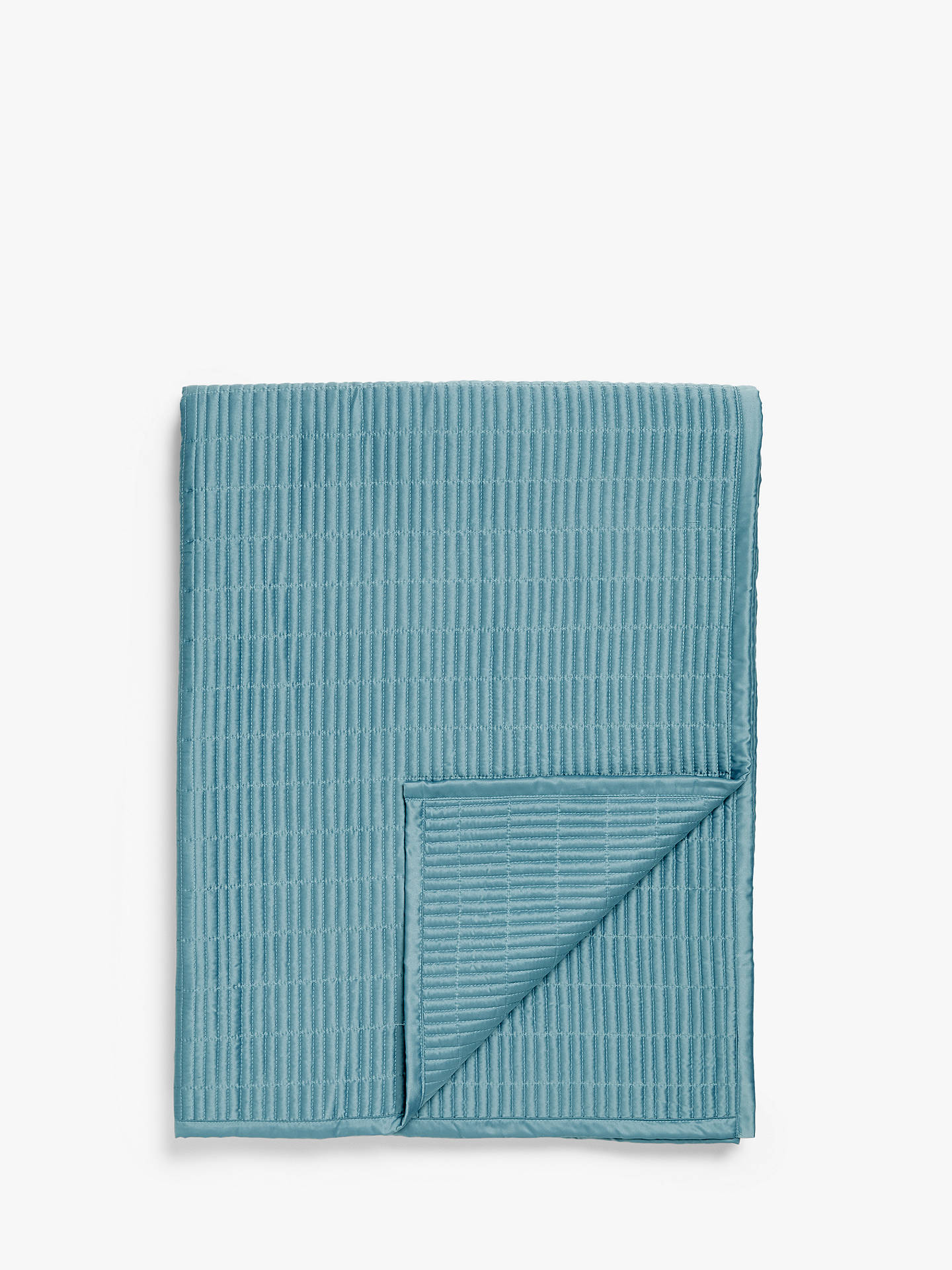 Buy John Lewis & Partners Moda Bedspread, Soft Teal Online at johnlewis.com