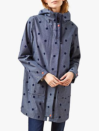 White Stuff Thetford Spotty Mac, Chambray Blue