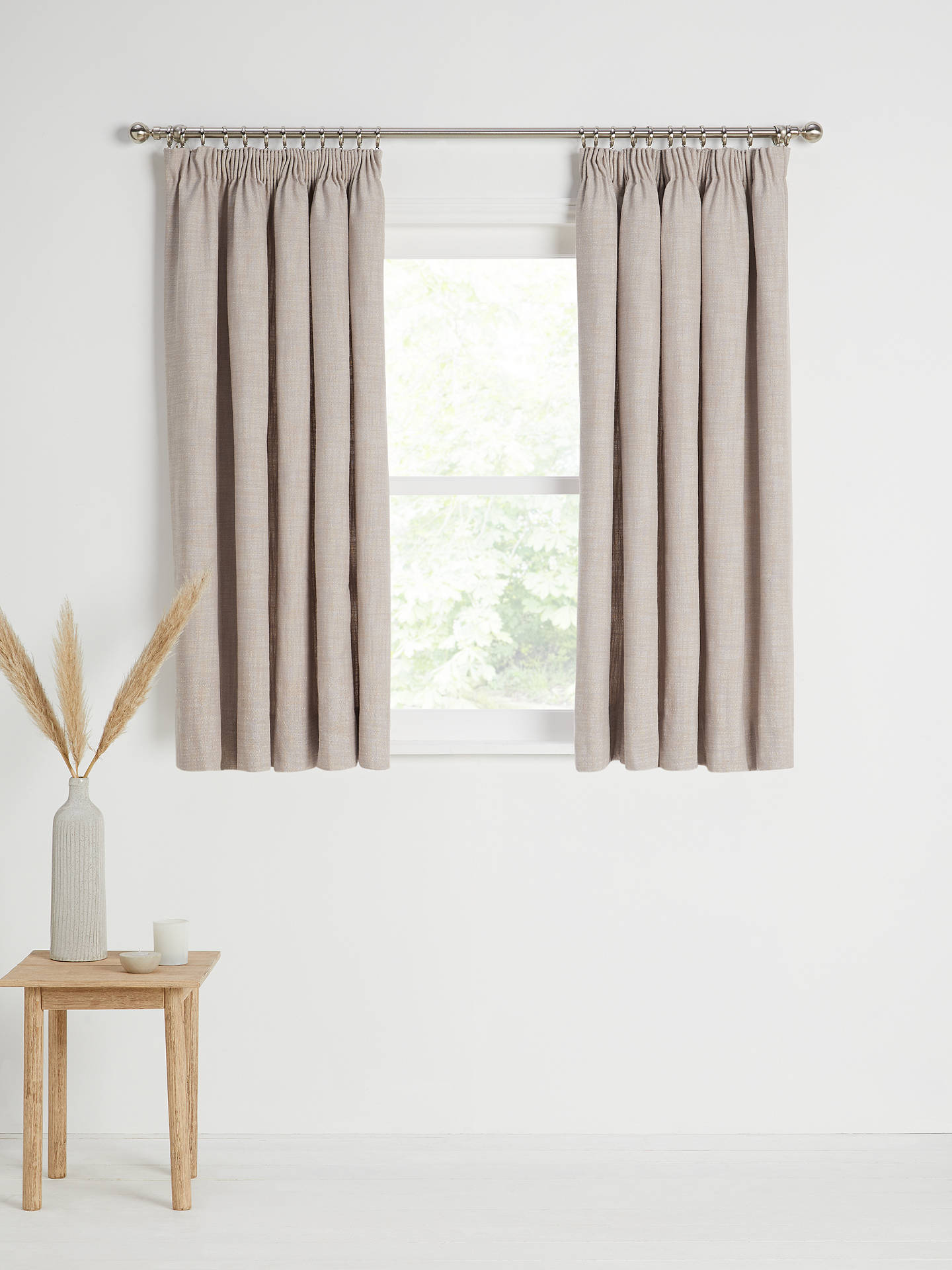 Buy Croft Collection Skye Pair Lined Pencil Pleat Curtains, Rosa, W167 x Drop 137cm Online at johnlewis.com