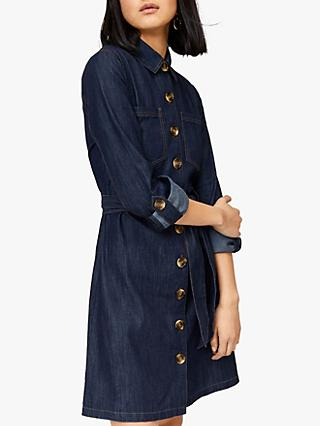 491e9b9b867 Warehouse Belted Denim Shirt Dress