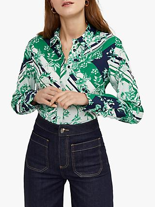 ee83947a9e2896 Warehouse Scarf Print Floral Shirt