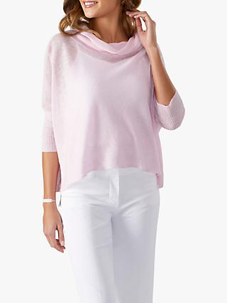 Pure Collection Cowl Neck Linen Sweater
