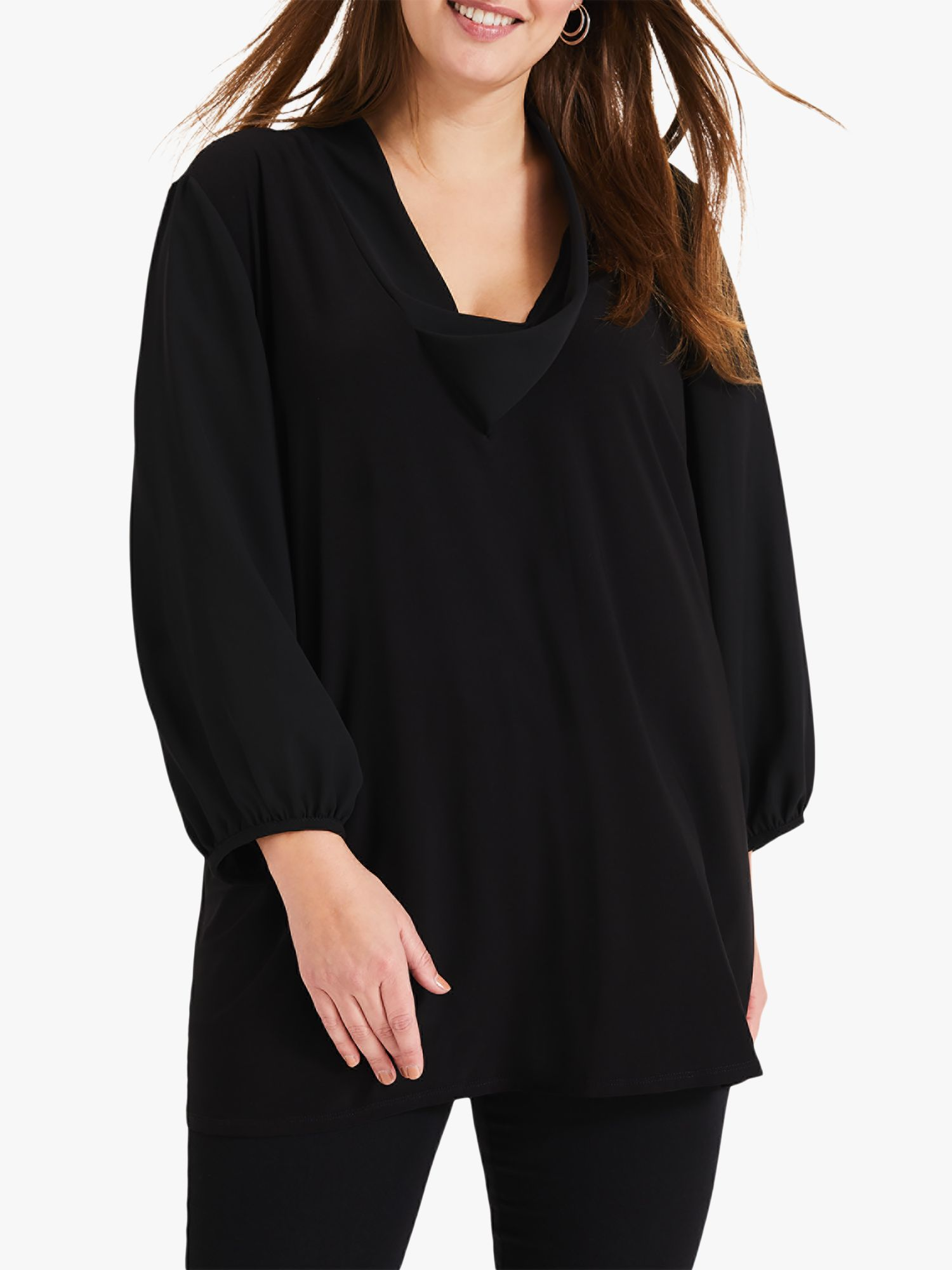 Studio 8 Studio 8 Melanie Cowl Neck Top, Black