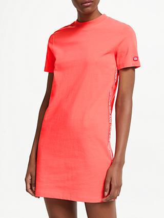 9887de9565627 Calvin Klein Jeans Tape Logo T-Shirt Dress