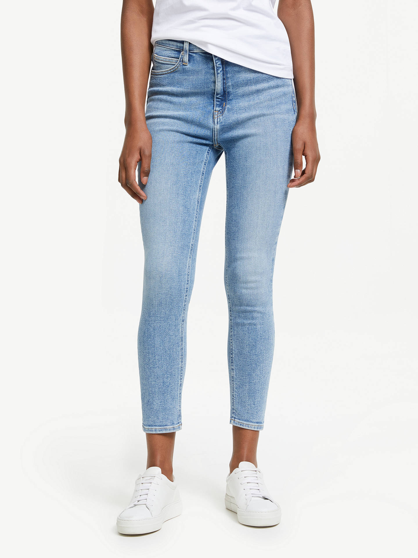 936da77be4c32 Buy Calvin Klein High Rise Skinny Ankle Jeans, Iconic Everest, 27 Online at  johnlewis ...