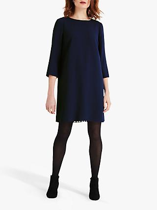 Phase Eight Pia Pleat Dress, Navy
