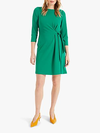 Phase Eight Thelma Side Tie Dress, Apple Green