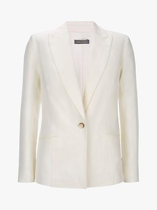 Mint Velvet Tailored Blazer, Ivory