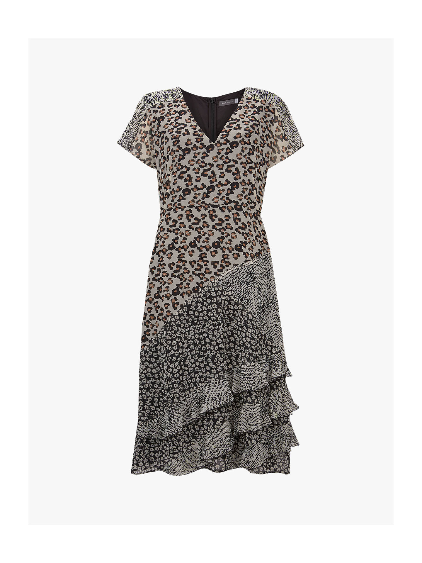 BuyMint Velvet Animal Print Ruffle Dress 3231dd285