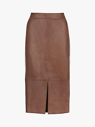 Mint Velvet Leather Pencil Skirt