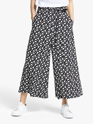 Somerset by Alice Temperley Star Bird Culottes, Black/Ivory