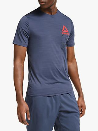 Reebok Workout Ready ACTIVChill Graphic Training Top, Heritage Navy