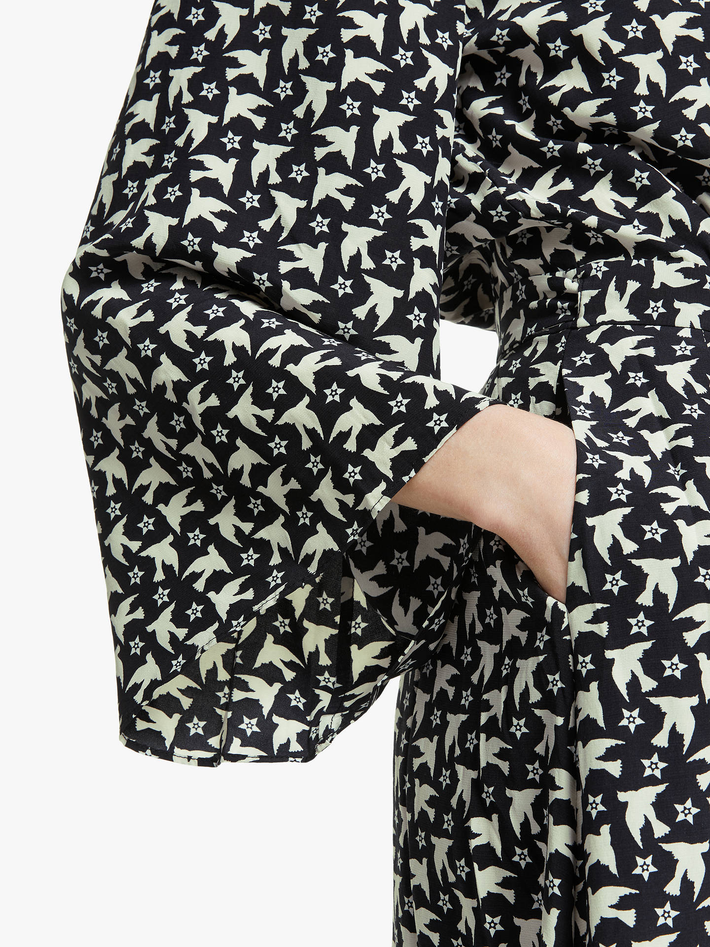 Buy Somerset by Alice Temperley Star Bird Wrap Kimono Dress, Black/Ivory, 12 Online at johnlewis.com