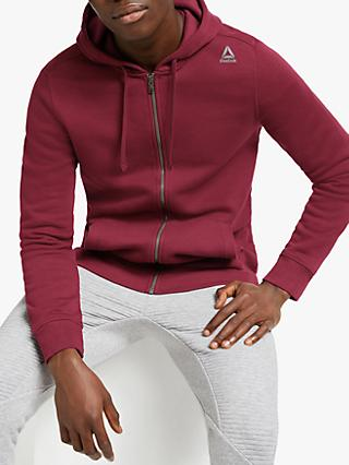 Reebok Elements Fleece Full Zip Training Hoodie, Lux Maroon