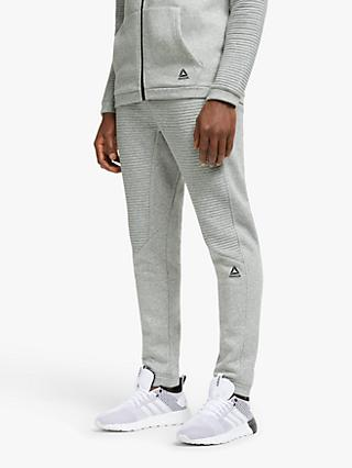 Reebok Workout Ready Fleece Joggers, Medium Grey Heather