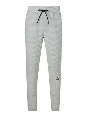 Buy Reebok Workout Ready Fleece Joggers, Medium Grey Heather, S Online at johnlewis.com