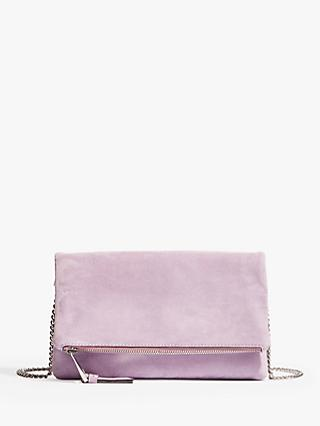 Karen Millen Suede Flap Clutch Bag