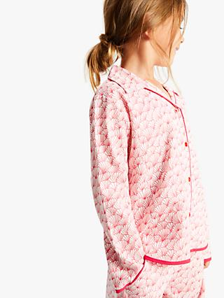 Cyberjammies Girls' Shell Print Woven Pyjamas, Pink