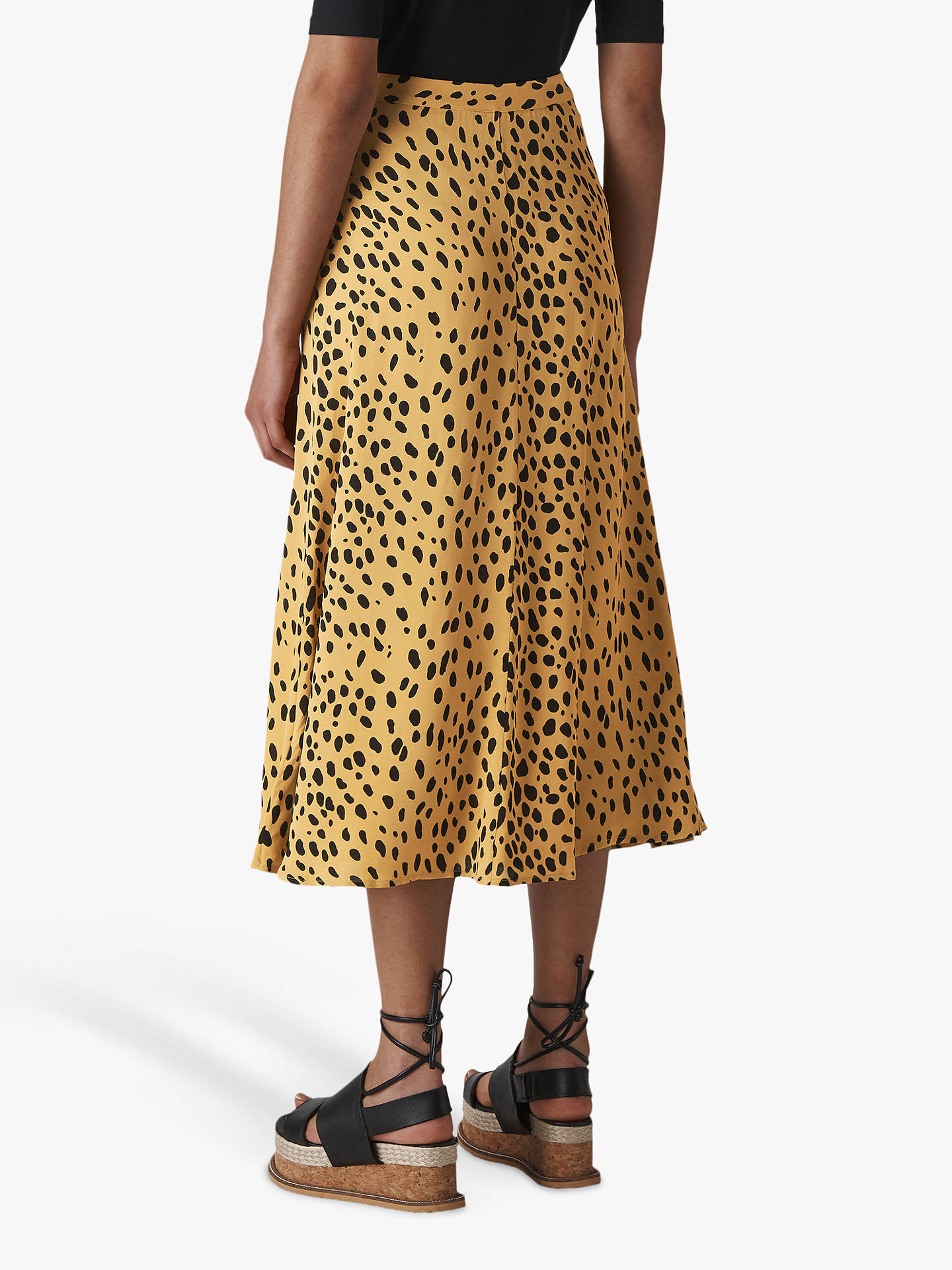 0097399b8a83 Buy Whistles Animal Print Midi Skirt, Cream/Multi, 10 Online at johnlewis.