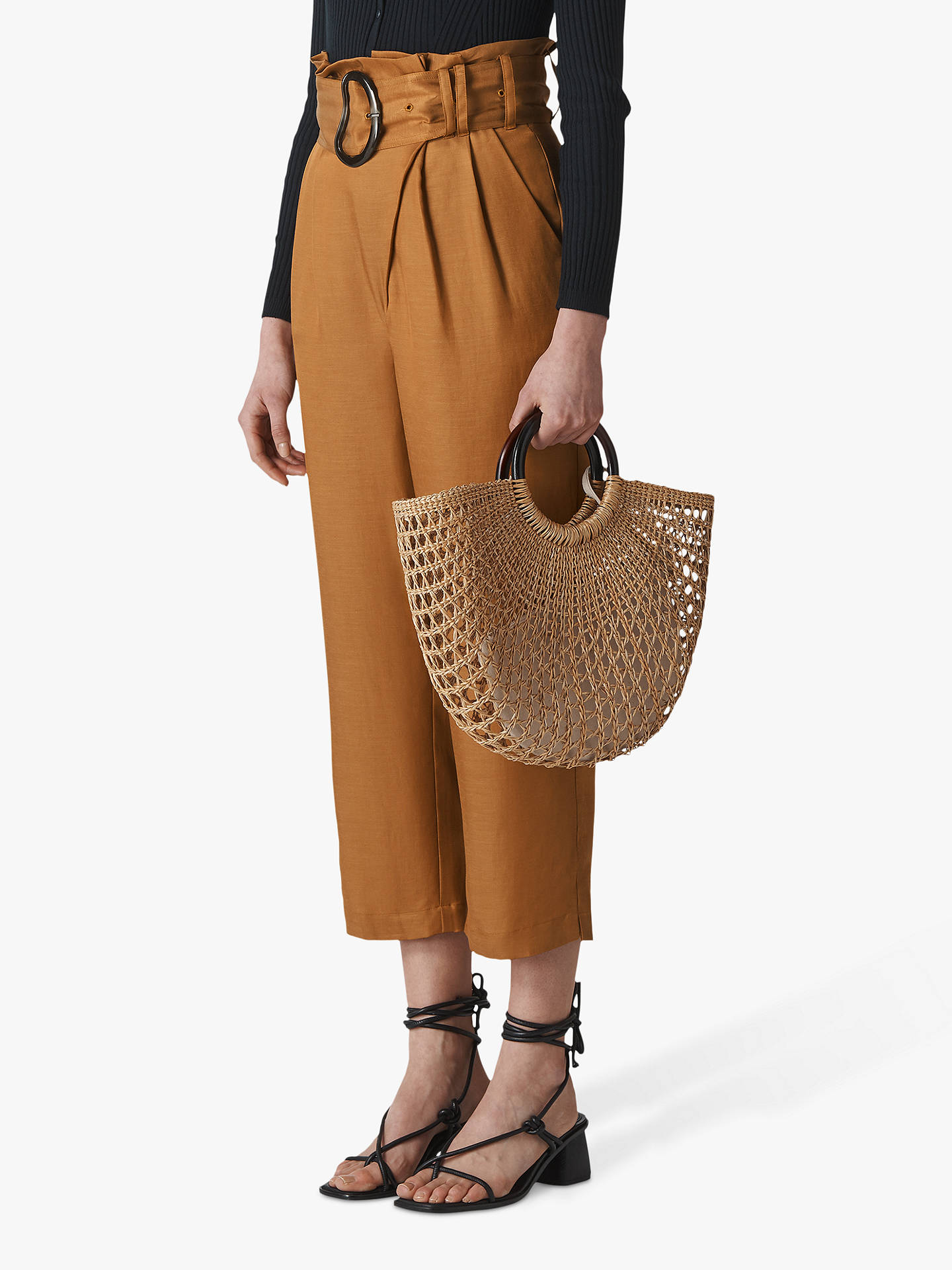 Buy Whistles Amelie Cropped Trousers, Brown, 14 Online at johnlewis.com
