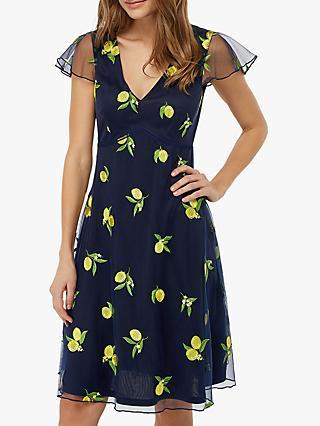 4817da3056f Monsoon Lemon Embellished Midi Dress